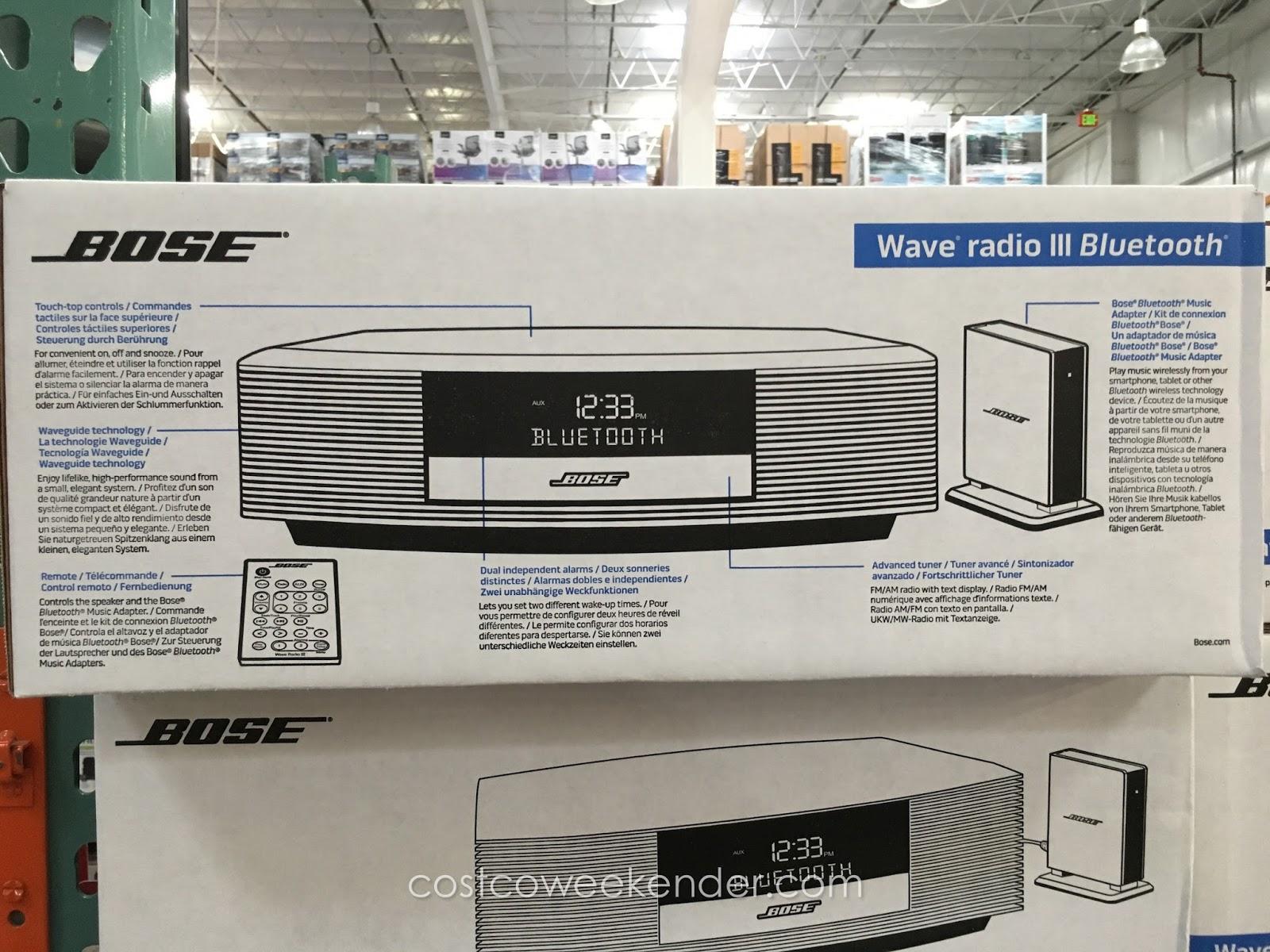 bose wave radio iii with bluetooth costco weekender. Black Bedroom Furniture Sets. Home Design Ideas