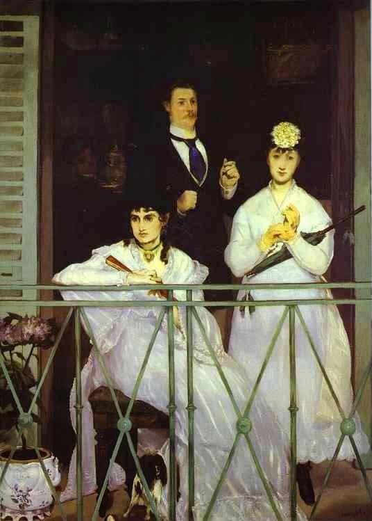 O Balção - Pinturas impressionistas pintadas por Édouard Manet