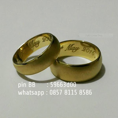 cincin kawin simple elegant