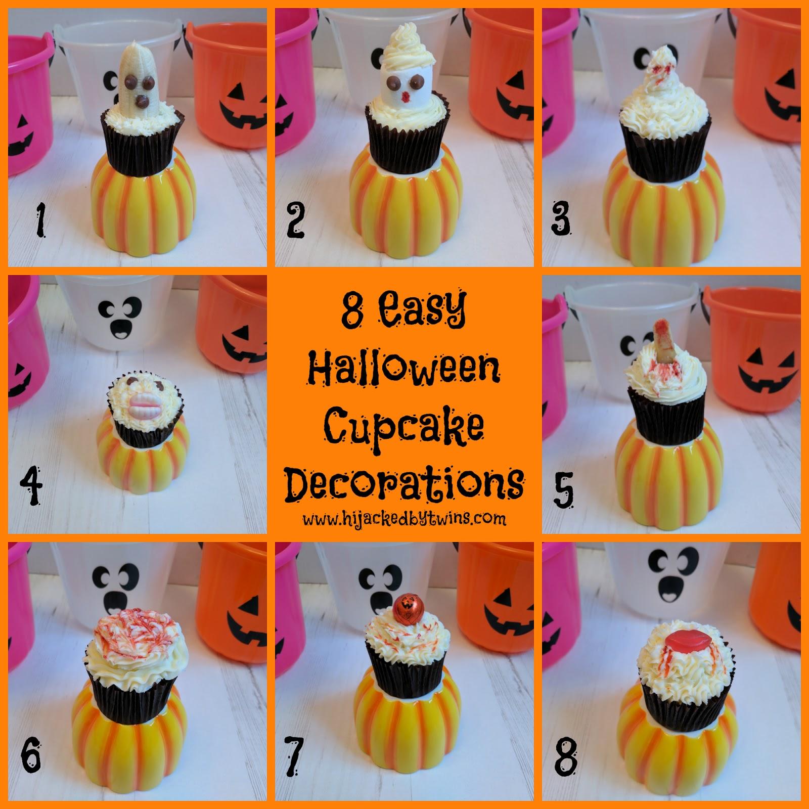 Halloween Cupcake Decoration : Hijacked By Twins: 8 Easy Halloween Cupcake Decoration