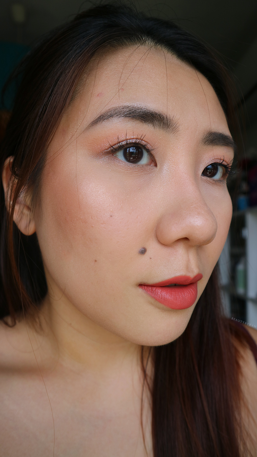 Simple no foundation makeup routine for asians