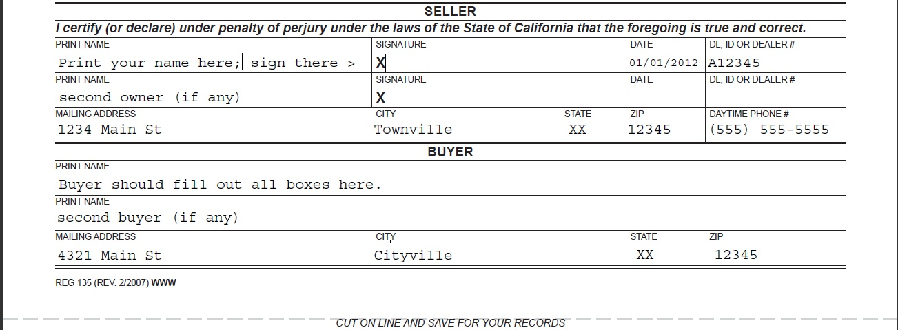 How to sell, trade or buy a used car via Craigslist Basic Trading - car bill of sale