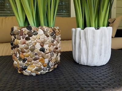 diy stone rock planters dollar store