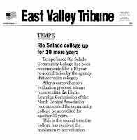East Valley Tribune clipping