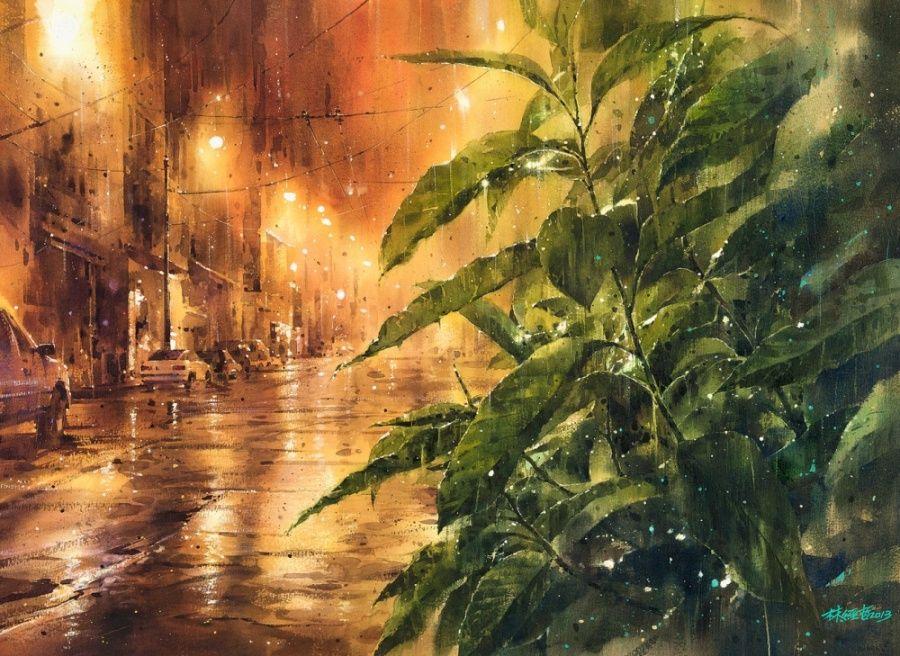 Brilhantes pinturas feitas com Aquarela
