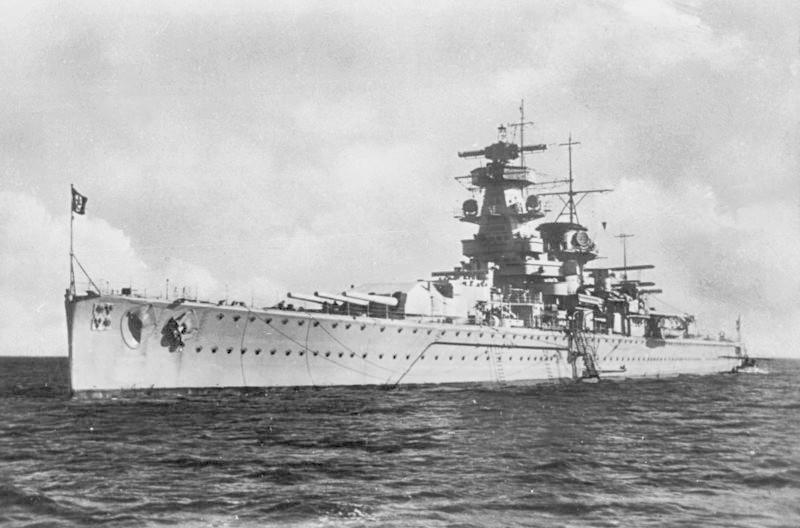 Wikipédia commons. Le croiseur cuirassé Admiral Graf Spee en 1936