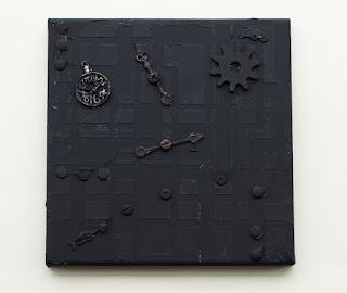 Canvas using black gesso