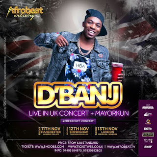 MAYORKUN & DREMO TO SUPPORT D'BANJ ON BIGGEST UK HEADLINE TOUR
