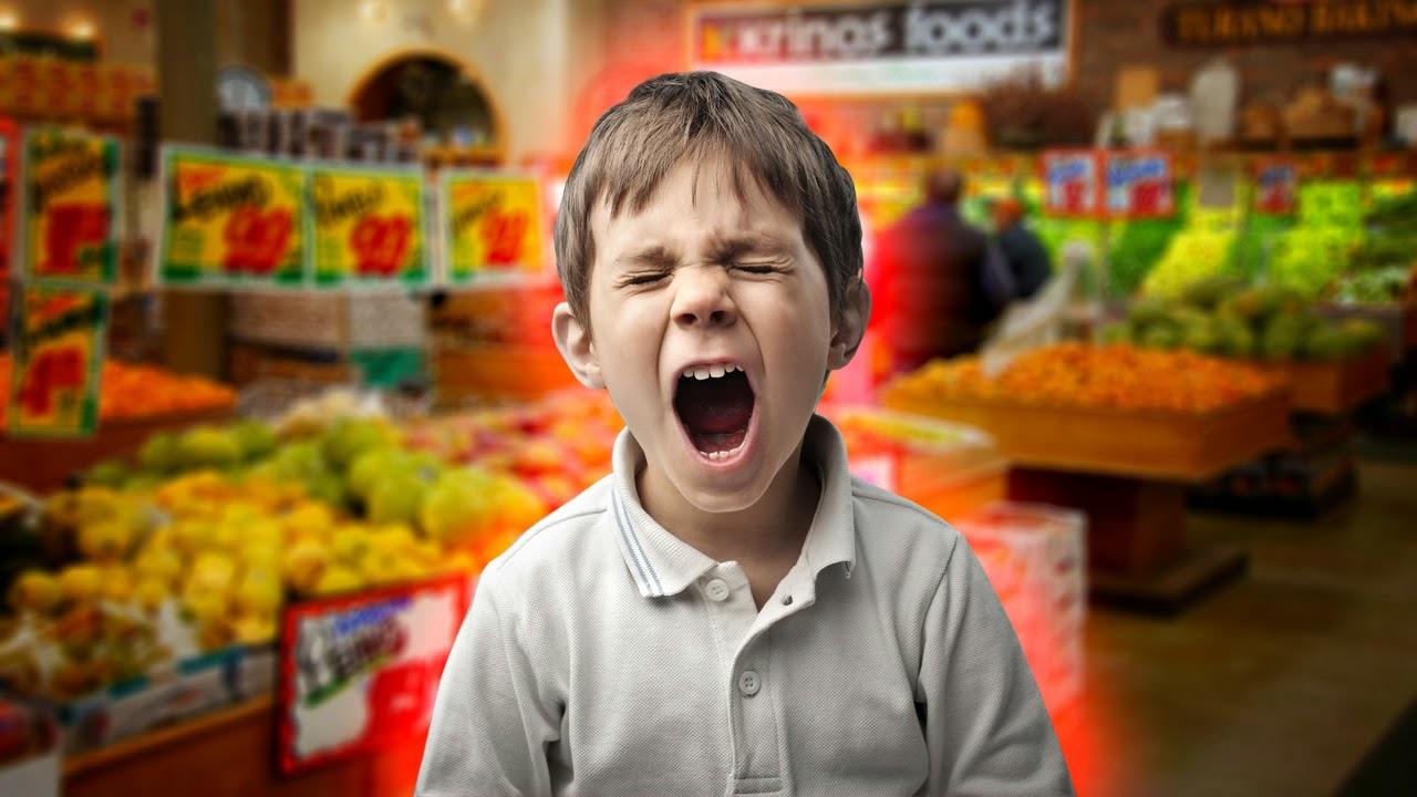 Hijo gritando