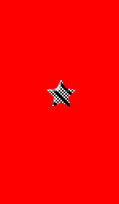 Star dot monochrome red simple