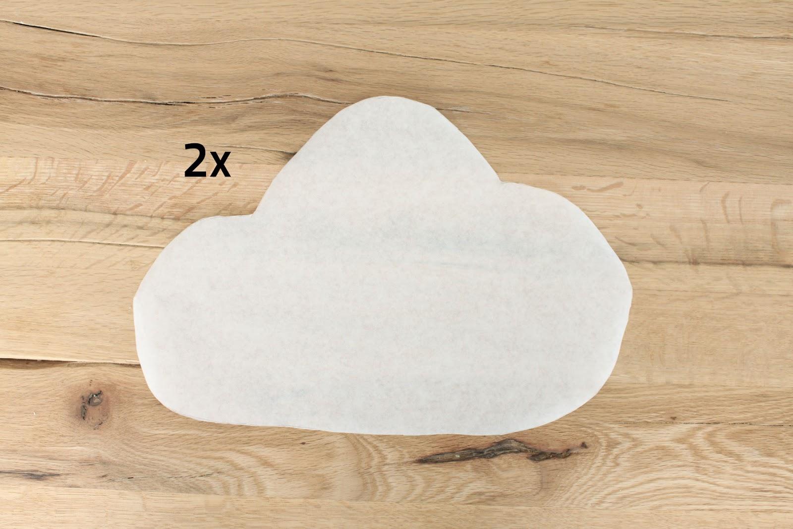 Laterne basteln in Form einer Wolke Schritt 2