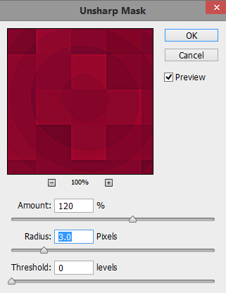 Second-unsharp-mask-filter-settings-to-the-background-layer-in-Photoshop