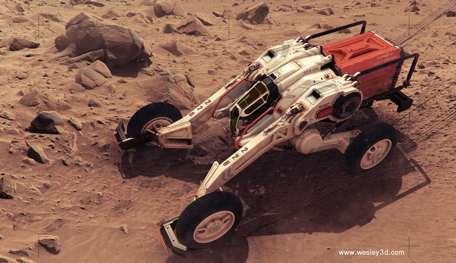 Martian rover by Wesley Griffith