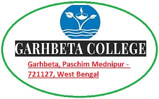 Garhbeta College, Garhbeta, Paschim Mednipur - 721127, West Bengal