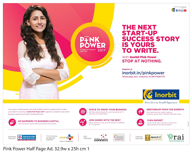 INORBIT MALL 'PINK POWER' BEGINS – THE NEXT START-UP SUCCESS STORY IS YOURS TO WRITE