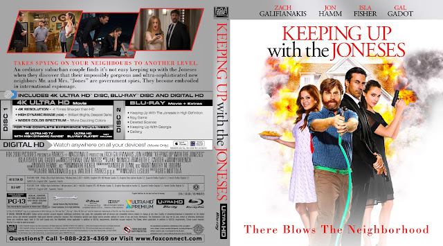 Keeping Up with the Joneses 4k Bluray Cover