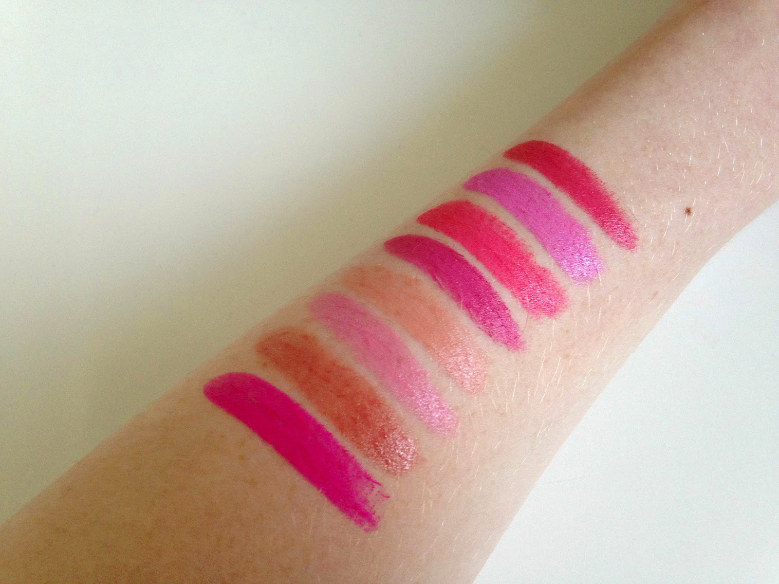 MAC Lipstick Collection Swatches