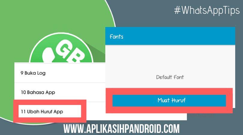 Cara mengganti font whatsapp tanpa aplikasi tambahan