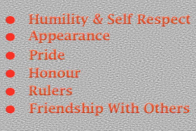 Humility and Self Respect