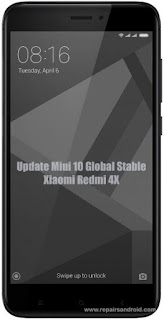 Cara Update Xiaomi Redmi 4X Ke Miui 10 Global Stable Rom