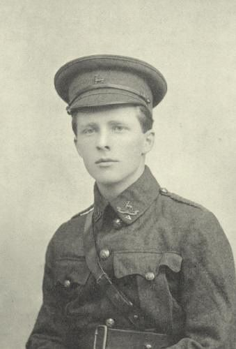 Rupert Brooke WWI poet and soldier 1887 - 1915.