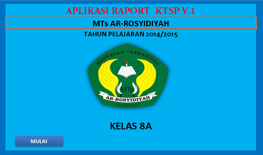 Software Raport MTs KTSP Aplikasi Excel Free Download