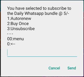 Telkom daily WhatsApp.