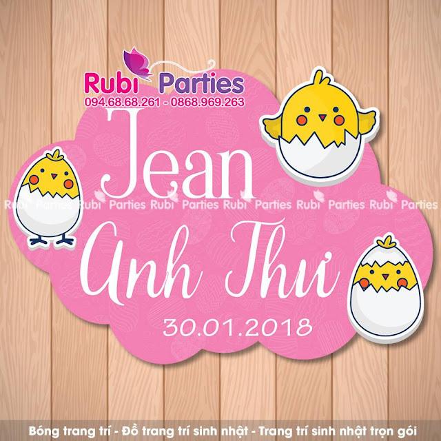 Shop thiet ke bang ten sinh nhat cho be tai Nam Tu Liem
