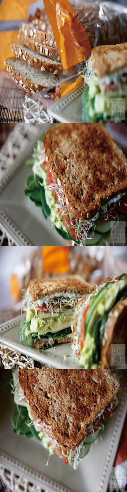 THE ULTIMATE VEGGIE SANDWICH HEALTHY RECIPE