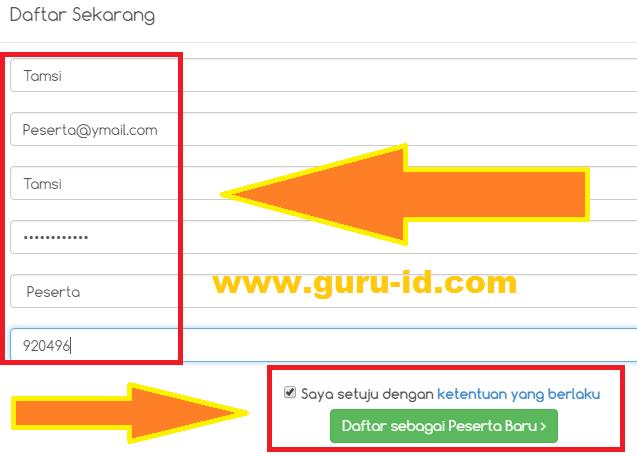 gambar Cara Daftar Peserta di Sertifikasiguru.id dan mengisi formulir