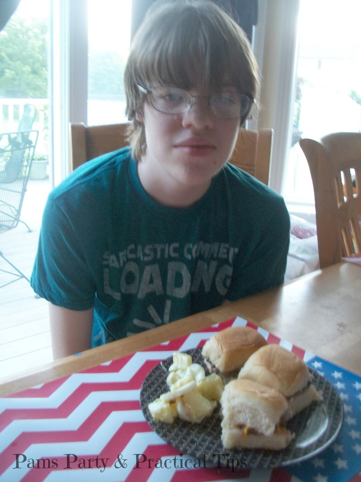 Cooking with Kyle, Cheesy BBQ Sliders, Egg Potato Salad