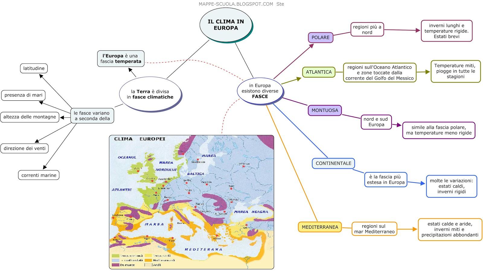 bello economico nuovo stile un'altra possibilità MAPPE SCIENZE della TERRA – LA METEOROLOGIA, IL CLIMA E GLI ...