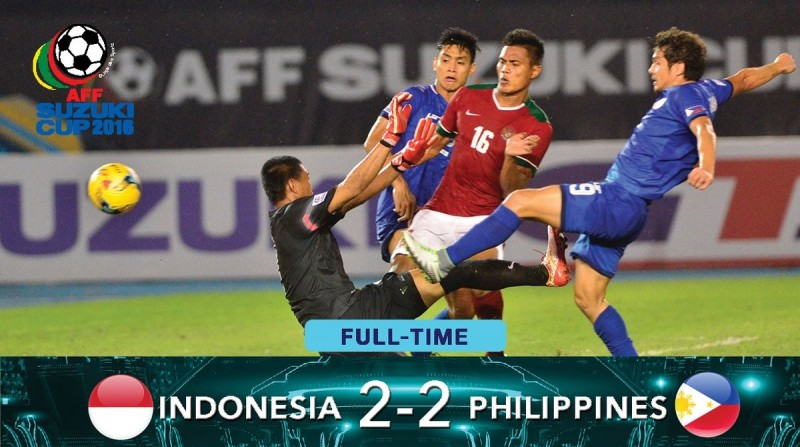 Hasil AFF Suzuki Cup 2016, Indonesia 2-2 Filipina