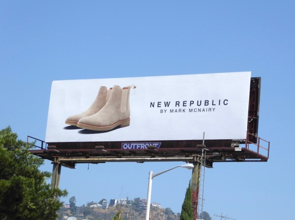 New Republic Mark McNairy shoe billboard
