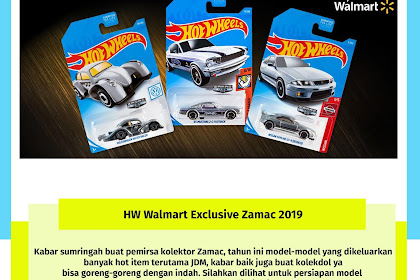 Hot Wheels Walmart Exclusive Zamac 2019 (Banyak JDM)