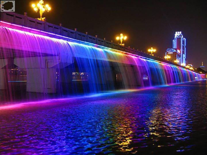 Banpo bridge in south korea..!