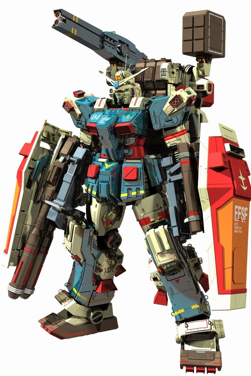 Fa 78 Full Armor Gundam Thunderbolt Sector Ver 3d