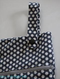 DIY bolsa para organizar los paños de cocina