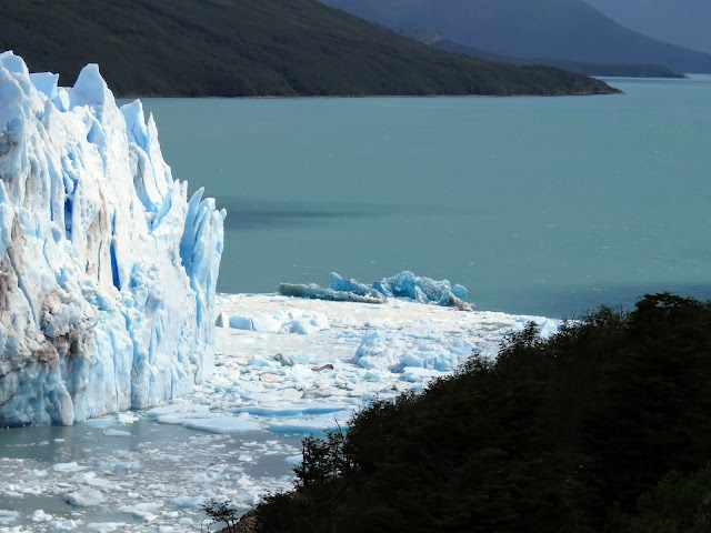 Perito Moreno Glacier and water beyond near El Calafate Argentina