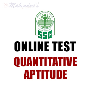 SSC CHSL Online Test  For Quantitative Aptitude  25 - Jan- 18