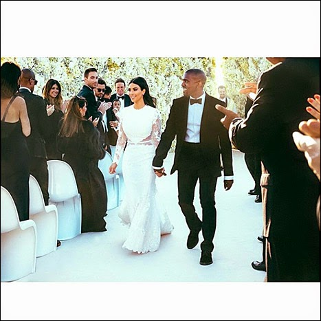 kim kardashian instagram wedding