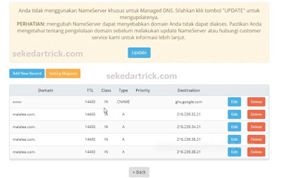 Setting DNS Blogspot