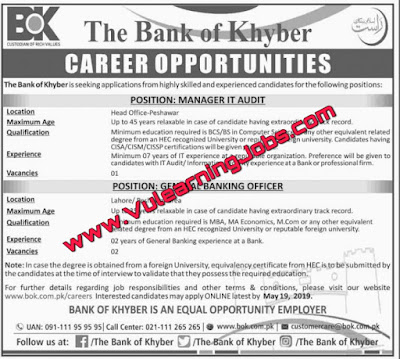 The Bank Of Khyber BOK Careers | Jobs In Pakistan