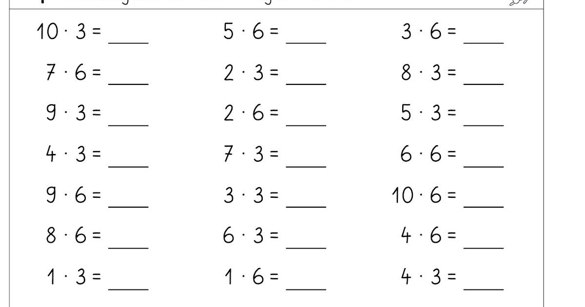 lernst252bchen kopfrechenbl228tter zum einmaleins