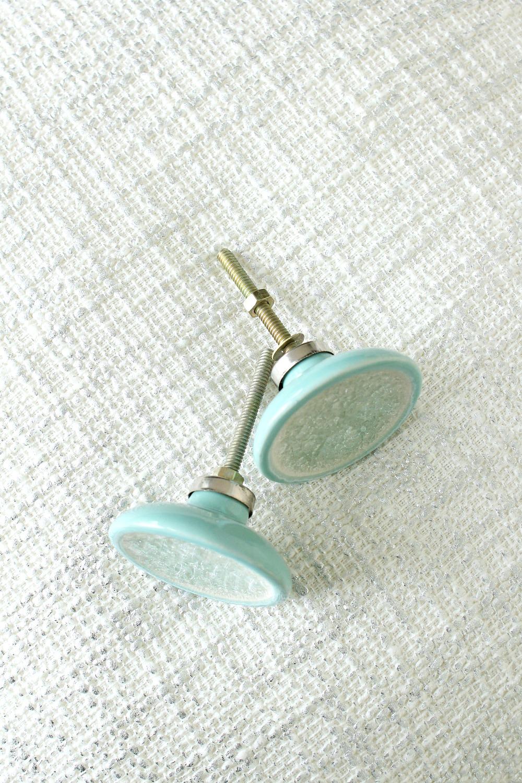 Turquoise Ceramic Knobs