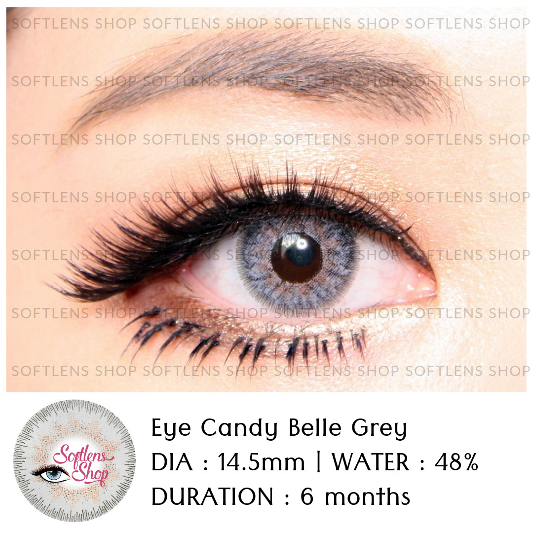 Softlens Shop Eye Candy Lovely Girl Sweety Black Belle Grey