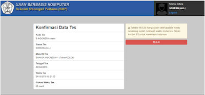 Konfirmasis Data Panduan Ujian Berbasis Komputer (UNBK, UBK, USBK, Dll)