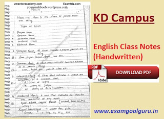 KD-Campus-English-Grammar-Class-Notes
