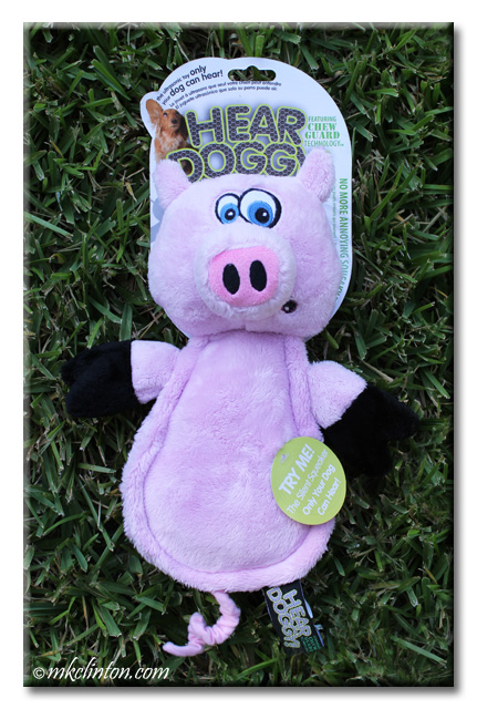 Hear Doggy! pink pig dog toy