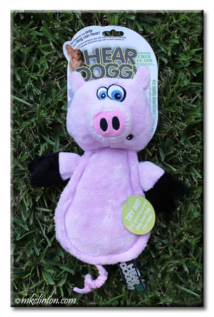 Hear Doggy! pink pig dog toy